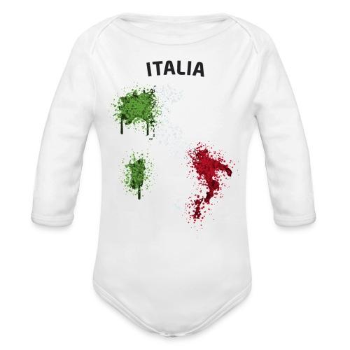 Baby Langarm Body Fußball Fan Italia Graffiti - Baby Bio-Langarm-Body