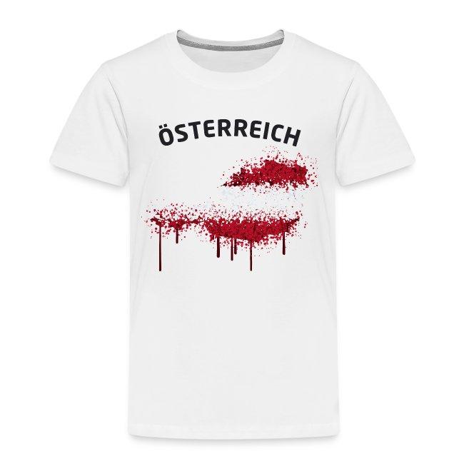 Kinder Fußball Fan T-Shirt Österreich Graffiti