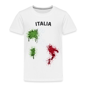 Kinder Fußball Fan T-Shirt Italia Graffiti - Kinder Premium T-Shirt