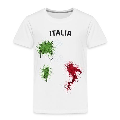 Kinder Fußball Fan T-Shirt Italia Graffiti - Kinder Premium T-Shirt