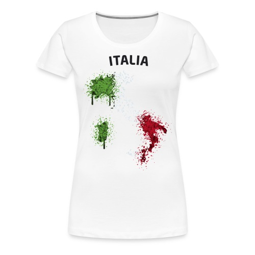 Damen Fußball Fan T-Shirt Italia Graffiti - Frauen Premium T-Shirt