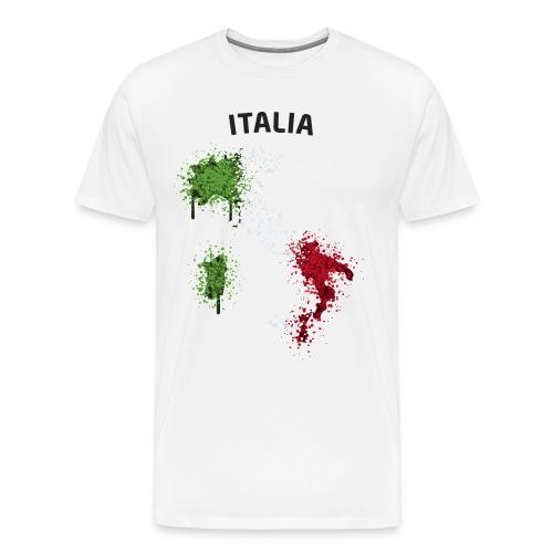 Herren Fußball Fan T-Shirt Italia Graffiti - Männer Premium T-Shirt