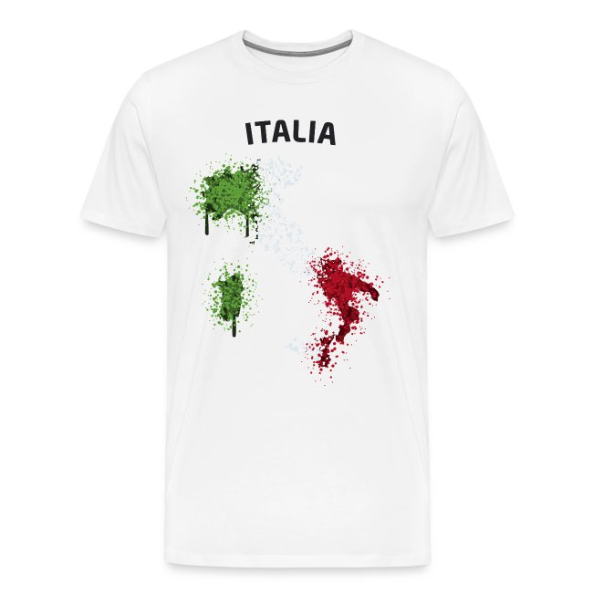 Herren Fußball Fan T-Shirt Italia Graffiti