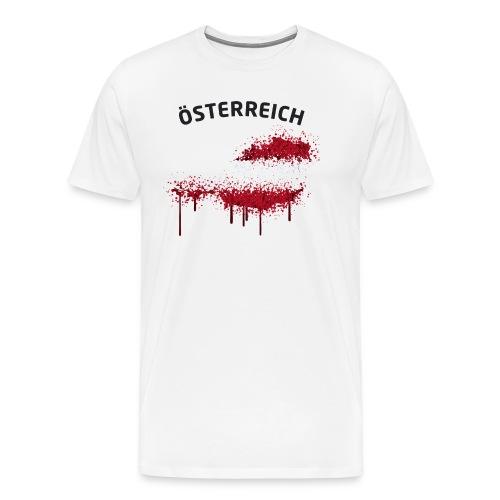Herren Fußball Fan T-Shirt Österreich Graffiti - Männer Premium T-Shirt