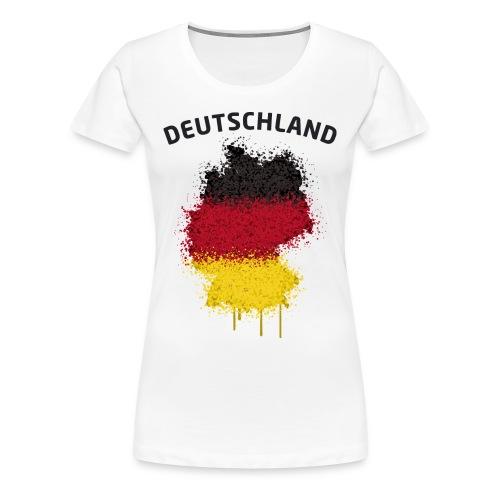 Damen Fußball Fan T-Shirt Deutschland Graffiti - Frauen Premium T-Shirt