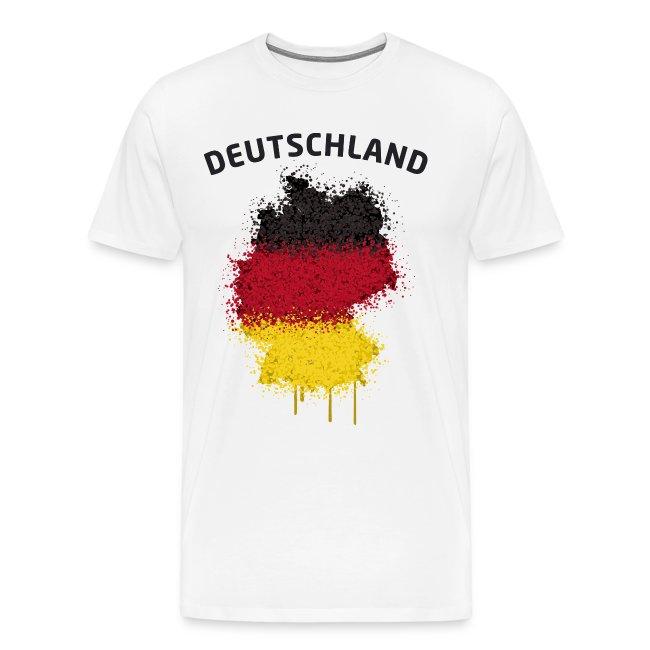Herren Fußball Fan T-Shirt Deutschland Graffiti