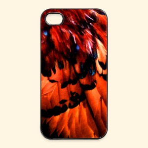 iPhone 4/4S Hard Case  - rote Federn - iPhone 4/4s Hard Case