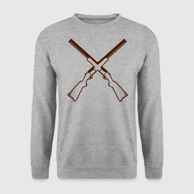 double fusil chasse 12 Sweat-shirts - Sweat-shirt Homme