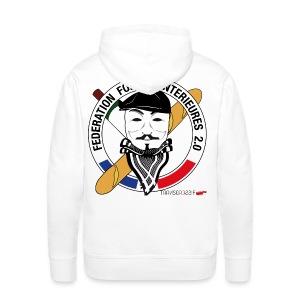 SWEATà capuche homme ffi anonymous BLANC - Sweat-shirt à capuche Premium pour hommes