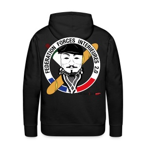 SWEAT à capuche homme ffi anonymous NOIR - Sweat-shirt à capuche Premium pour hommes