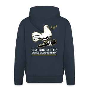 Hooded Jacket: Dove of Peace - Men's Premium Hooded Jacket