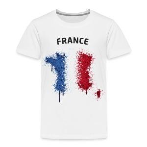 Kinder Fußball Fan T-Shirt France Graffiti - Kinder Premium T-Shirt
