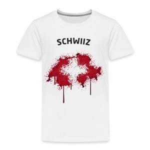 Kinder Fußball Fan T-Shirt Schwiiz Graffiti - Kinder Premium T-Shirt