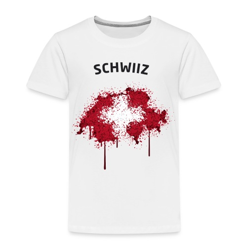 Kinder Fußball Fan T-Shirt Schwiiz Graffiti - Kinder Premium T-Shirt