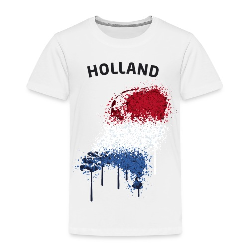 Kinder Fußball Fan T-Shirt Holland Graffiti - Kinder Premium T-Shirt