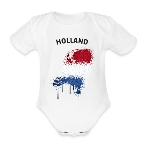 Baby Kurzarm Body Fußball Fan Holland Graffiti - Baby Bio-Kurzarm-Body