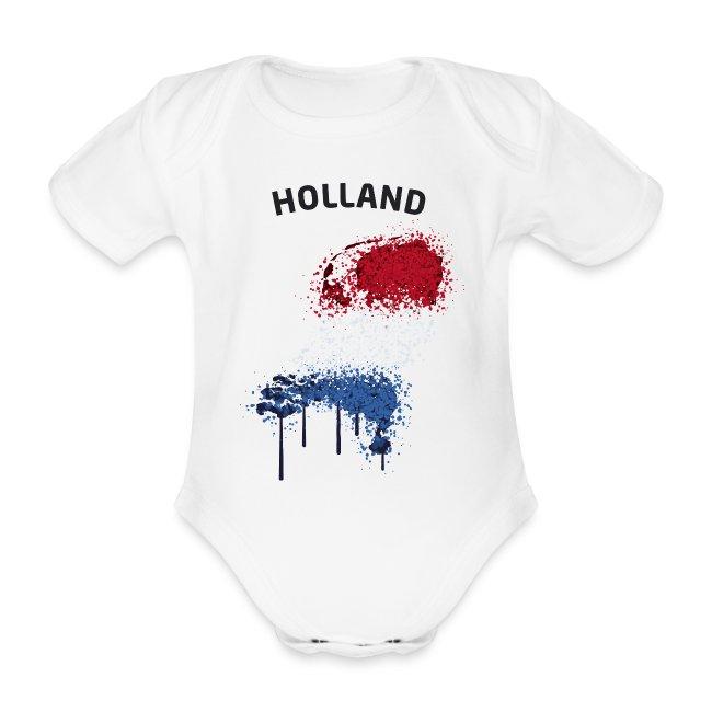 Baby Kurzarm Body Fußball Fan Holland Graffiti