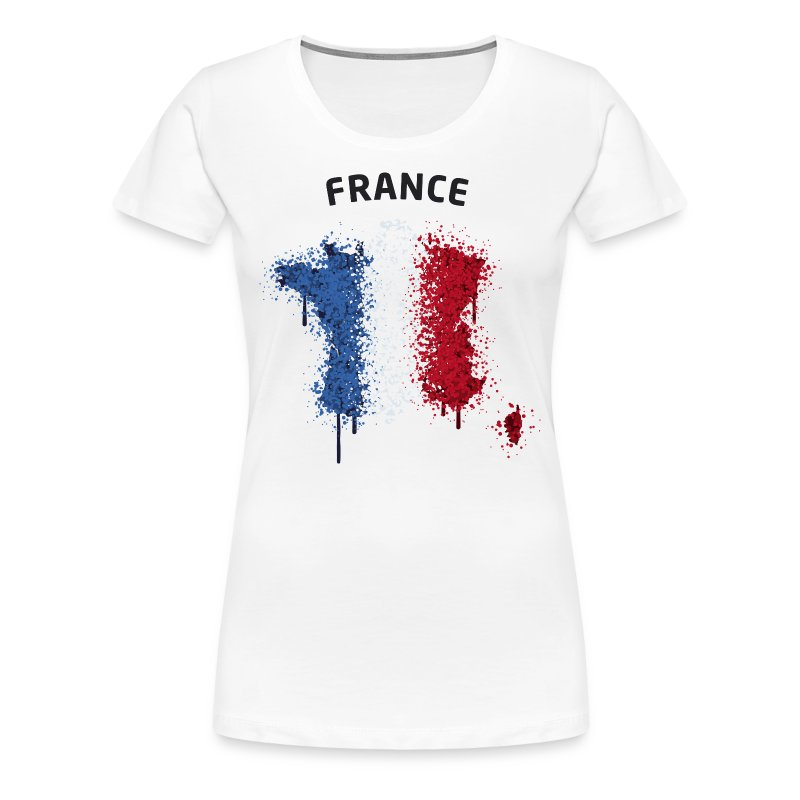 Damen Fußball Fan T-Shirt France Graffiti - Frauen Premium T-Shirt