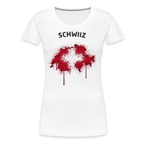 Damen Fußball Fan T-Shirt Schwiiz Graffiti - Frauen Premium T-Shirt