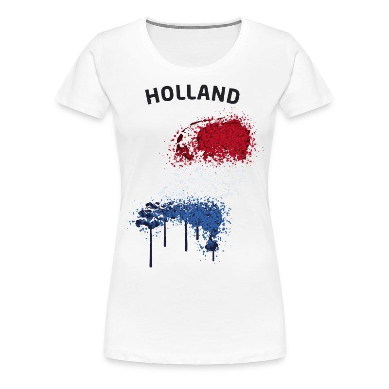 Damen Fußball Fan T-Shirt Holland Graffiti - Frauen Premium T-Shirt