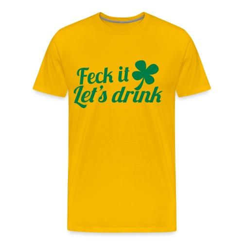 irish drink - Men's Premium T-Shirt