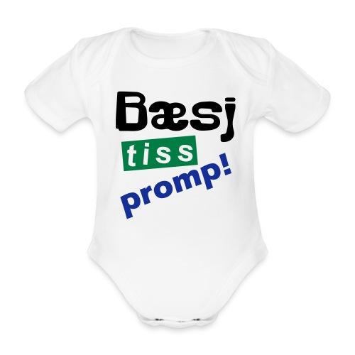 Bæsj Tiss Promp! - Økologisk kortermet baby-body