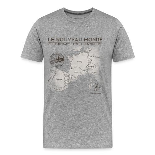 T-SHIRT premium homme euroregions GRIS - T-shirt Premium Homme
