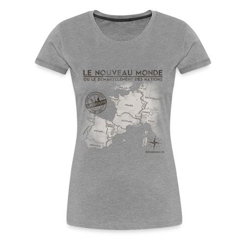T-SHIRT premium  femme eurorégions - T-shirt Premium Femme