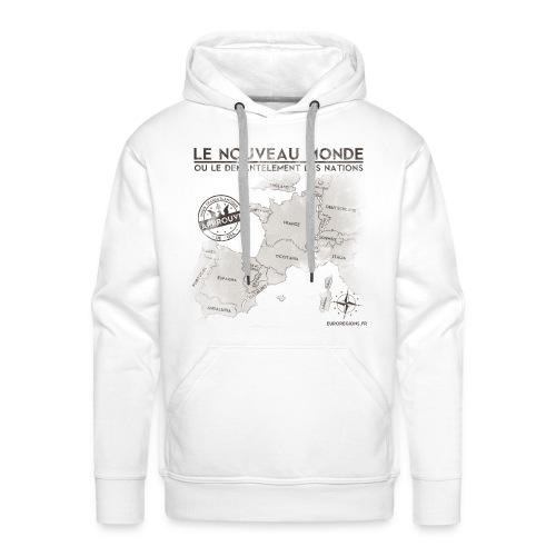 SWEAT à capuche homme euroregions BLANC - Sweat-shirt à capuche Premium pour hommes