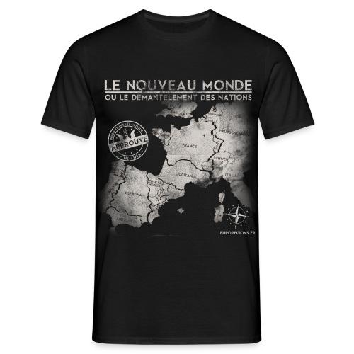 T-SHIRT standard homme euroregions NOIR - T-shirt Homme