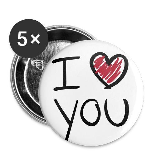 I love you! - Buttons/Badges mellemstor, 32 mm