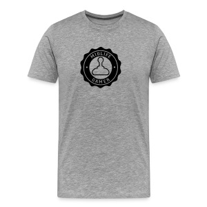 Emblem: Midlife Gamer - Mono V2 Black - Men's Premium T-Shirt