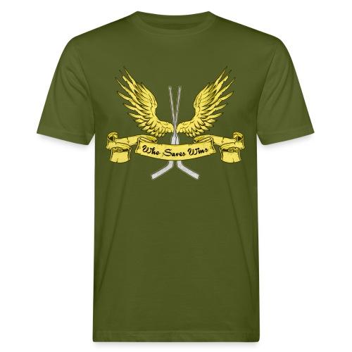 Who Saves Wins Hockey Goalie Men's Organic T-Shirt - Men's Organic T-Shirt