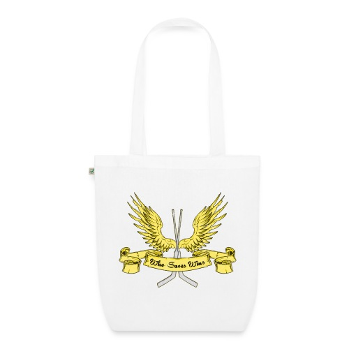 Who Saves Wins, Hockey Goalie Tote Bag - EarthPositive Tote Bag