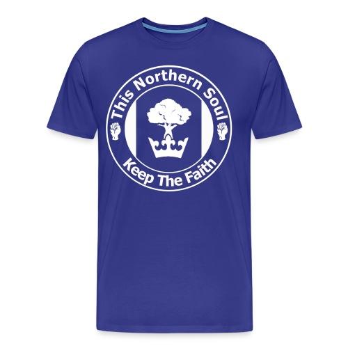 TNS Logo - White - Men's Premium T-Shirt