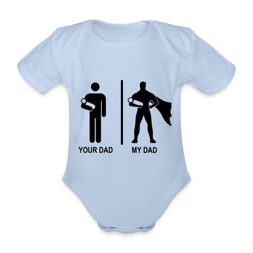 my dad - Body orgánico de maga corta para bebé