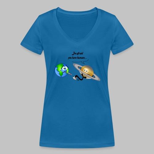 T-shirt femme (woman) Sick Earth - Women's Organic V-Neck T-Shirt by Stanley & Stella