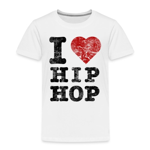 i love hip hop shirt wit - Kinderen Premium T-shirt