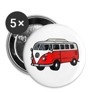 Bullybutton klein (rot) - Buttons small 25 mm