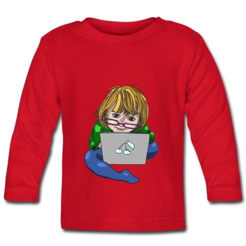 Littlest Computer Geek Girl Toddler's Tee - Baby Long Sleeve T-Shirt