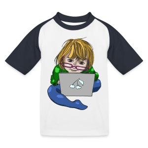 Littlest Computer Geek Girl Baseball Tee - Kids' Baseball T-Shirt