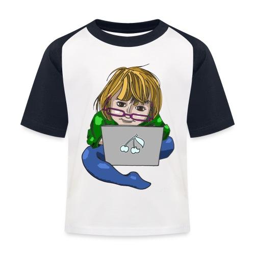 Littlest Computer Geek Girl Baseball Tee - Kids' Baseball T-Shirt