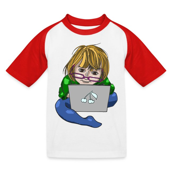 Littlest Computer Geek Girl Baseball Tee