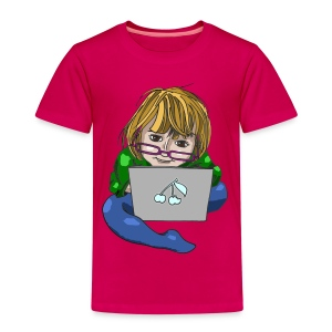 Littlest Computer Geek Girl Kid's Tee - Kids' Premium T-Shirt