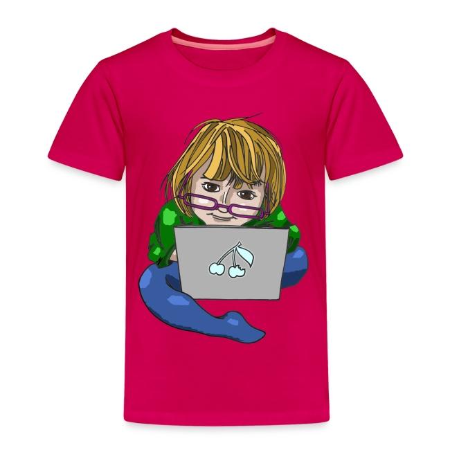 Littlest Computer Geek Girl Kid's Tee