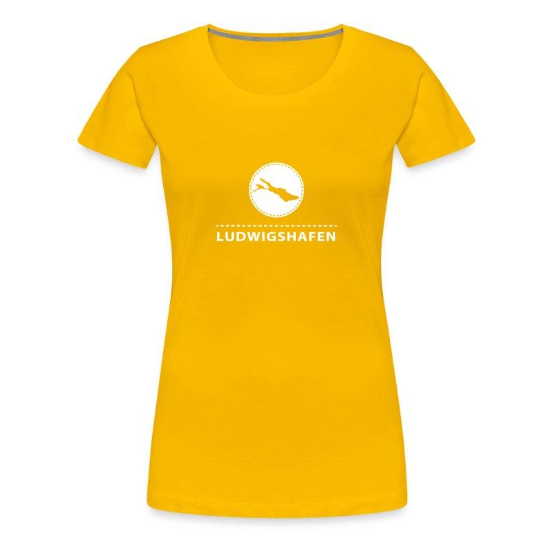 WOMEN Ludwigshafen flex weiß - Frauen Premium T-Shirt