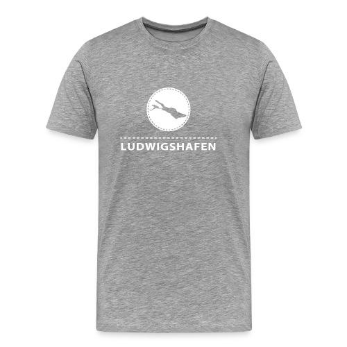 MEN Ludwigshafen flex weiß - Männer Premium T-Shirt