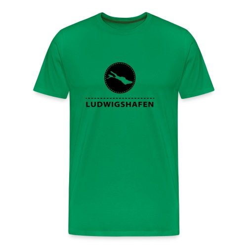 MEN Ludwigshafen flex schwarz - Männer Premium T-Shirt