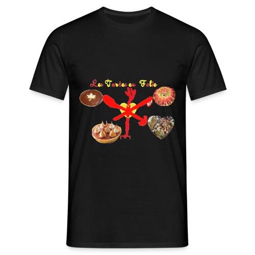 TS NOIR HOMME LES TARTES EN FOLIE - T-shirt Homme