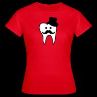 T-Shirts ~ Frauen T-Shirt ~ Zahnmoustache